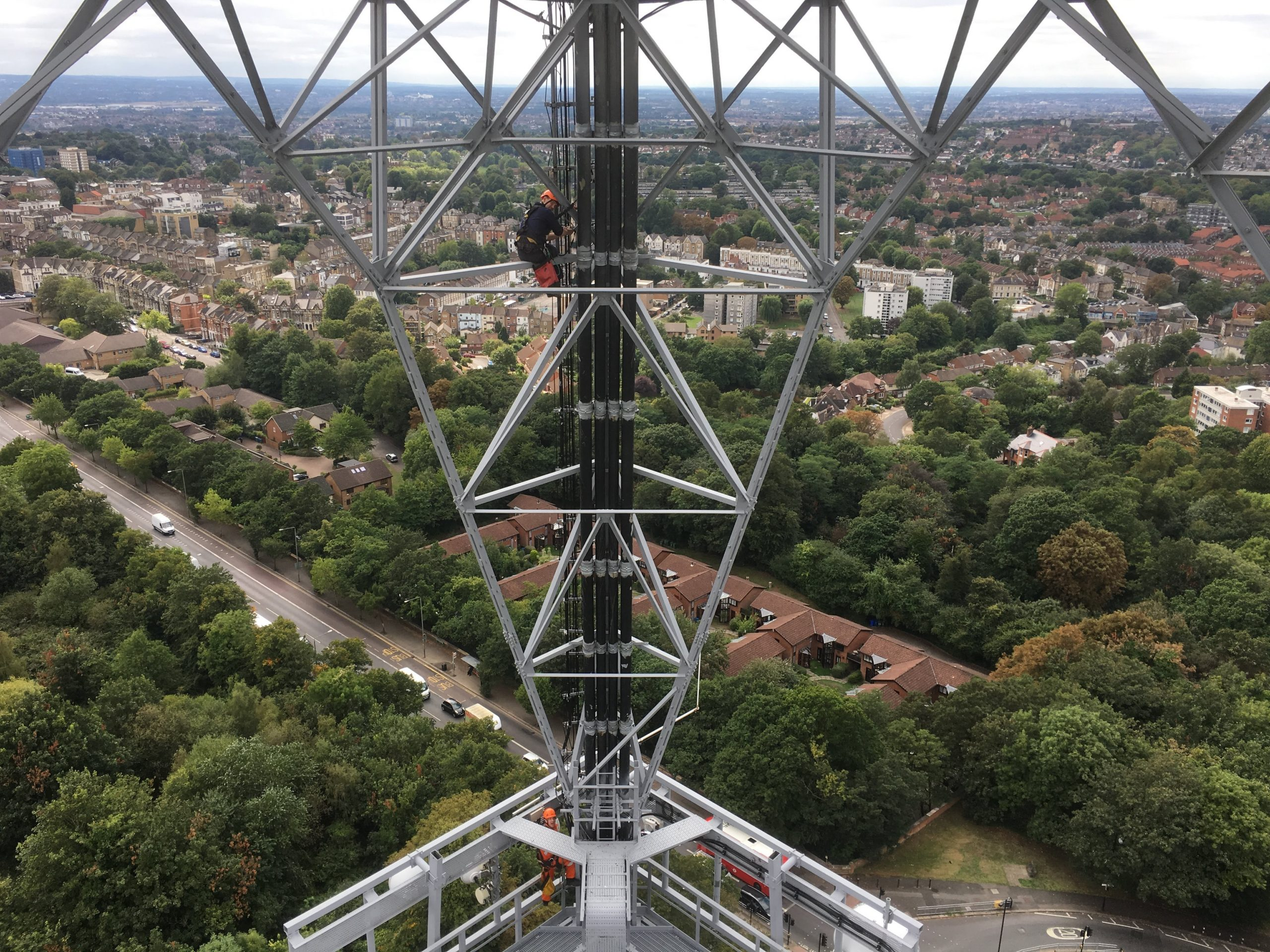 LARS rigging teams carrying out vital maintenance work on the Crystal Palace Tower