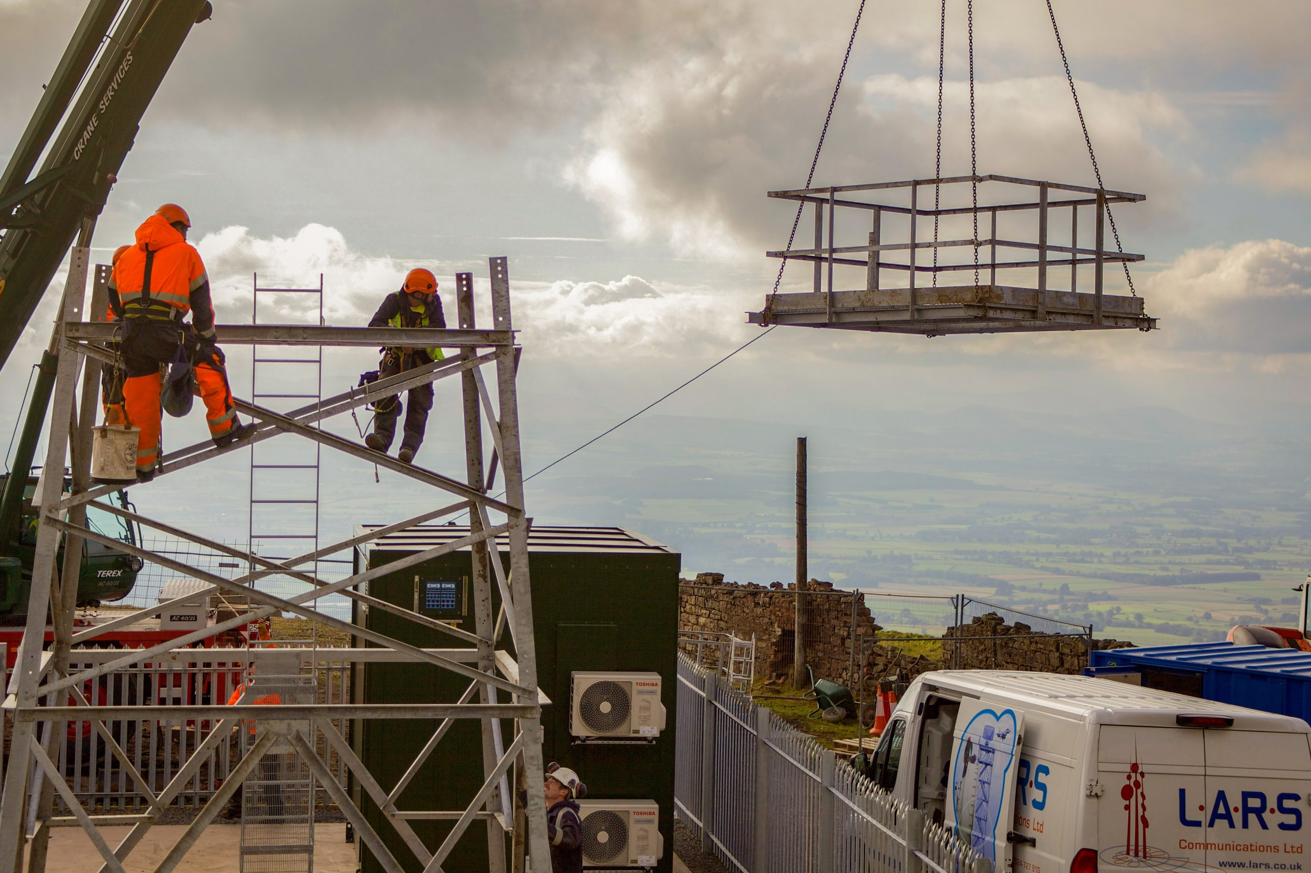 Great Dun Fell Tower Installation and Radio Site Build