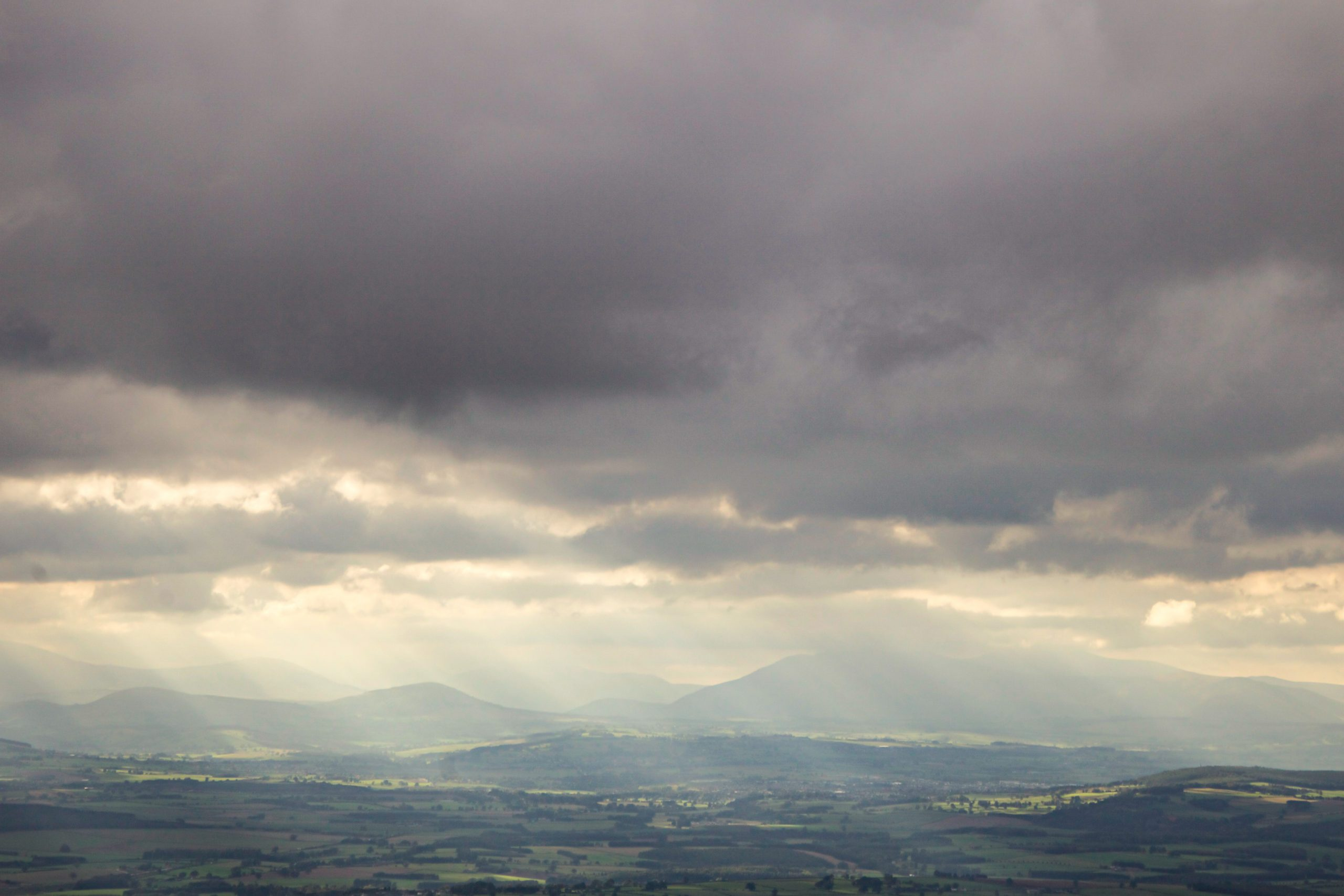 The Lake District Fells in the haze