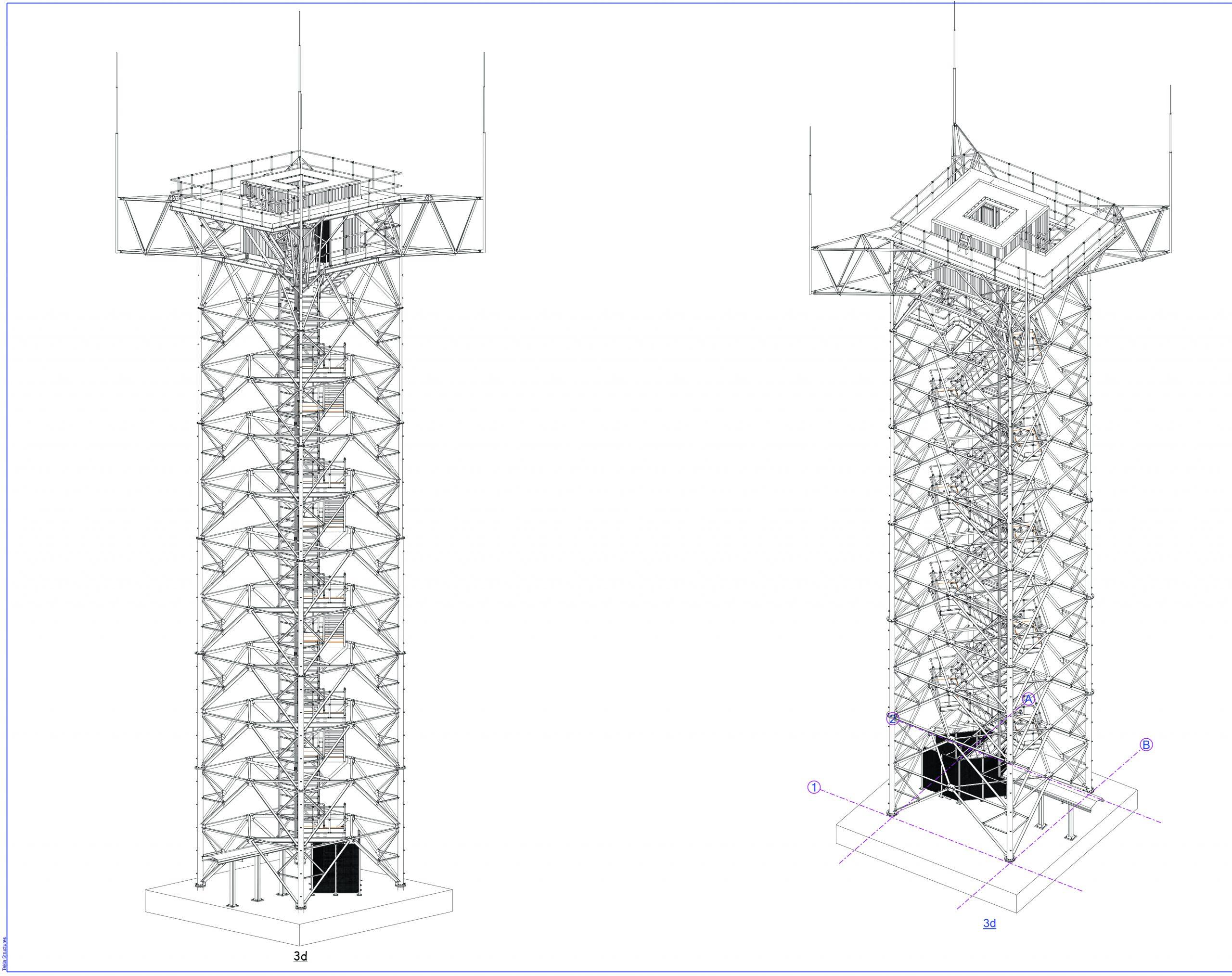 Tower installation at Cambridge International Airport