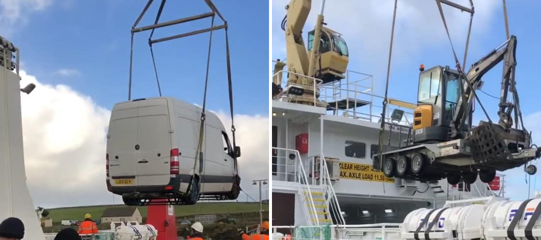 Supplying a communications tower to Papa Westray